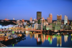 City of Pgh w river reflection